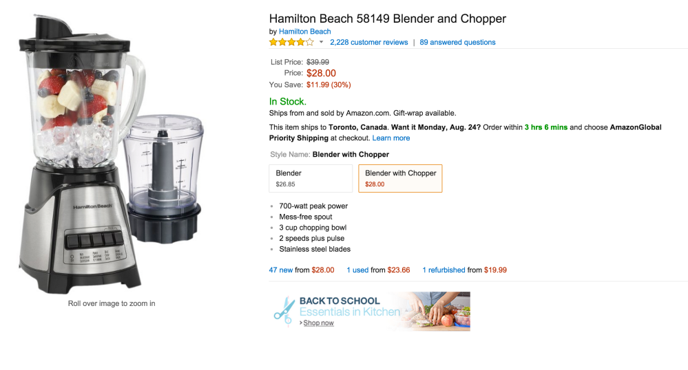 Hamilton Beach Blender and Chopper (58149)-sale-03