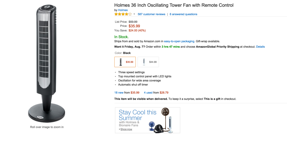 Holmes 36-inch Oscillating Tower Fan with Remote Control (HT38RB-U)-sale-02
