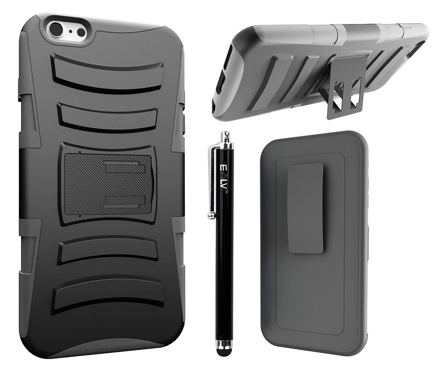 iPhone 6 Plus Case, iPhone 6 Plus Holster Defender Case, E LV iPhone 6 Plus Case