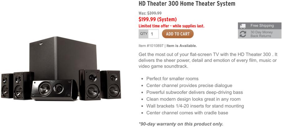 klipsch home theater sale