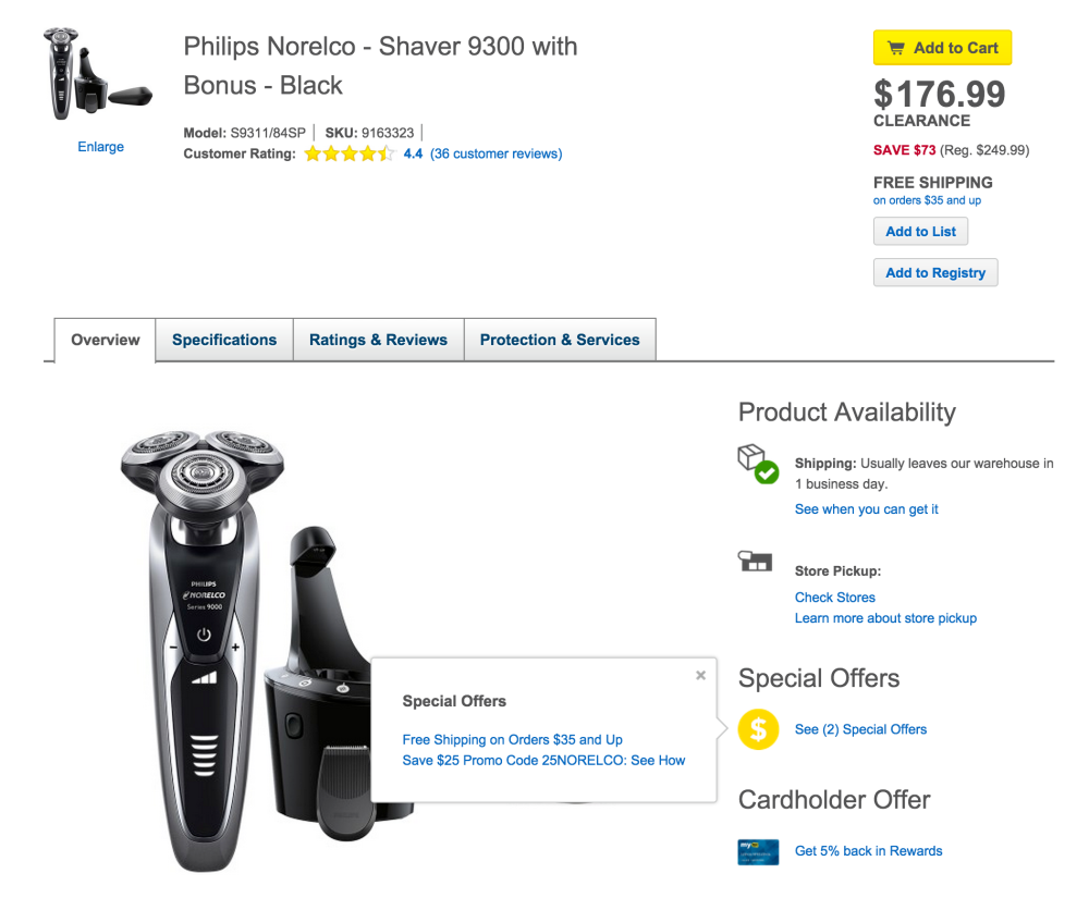 Philips Norelco Shaver 9300 with Bonus pack in black (S9311:84SP)-sale-03