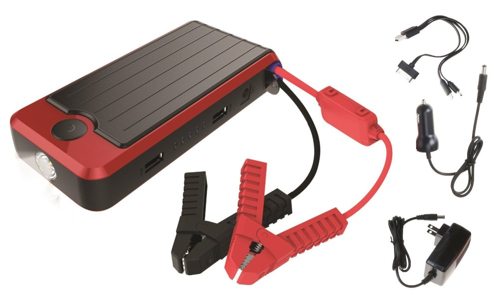 PowerAll Rosso Red:Black Portable Power Bank and Lithium Car Jump Starter (PBJS16000R)-sale-01