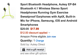 Sport Bluetooth Headphone by Aukey