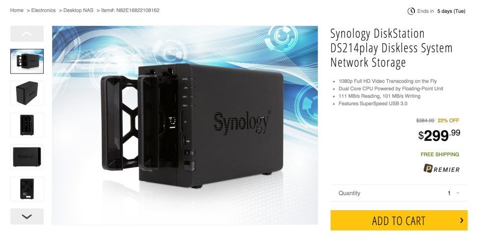 Synology DiskStation 2-Bay Diskless Network Attached Storage (DS214play)-sale-04