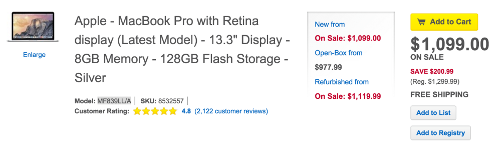 13-inch Retina MacBook Pro 2.7GHz:8GB:128GB (model MF839LL:A)-sale-01
