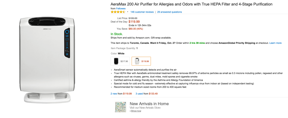 AeraMax 200 Air Purifier for Allergies and Odors with True HEPA Filter and 4-Stage Purification-sale-03