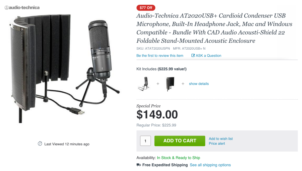 Audio-Technica AT2020USB+-acoustic shield-sale-01