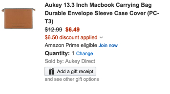 Aukey 13.3-inch Macbook Carrying Bag and Sleeve Case