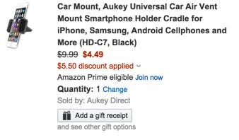 Aukey car mount