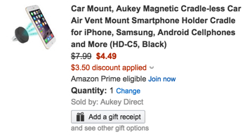 aukey magnetic vent mount