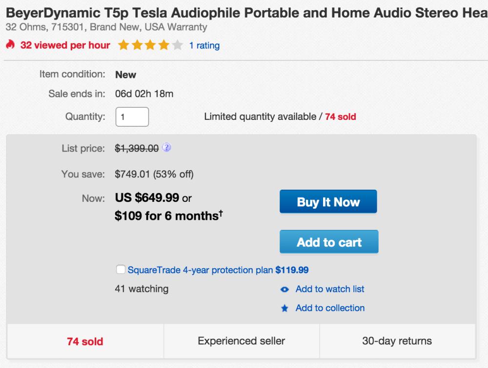 Beyerdynamic T5p Tesla Audiophile Portable and Home Audio Stereo Headphones-sale-02