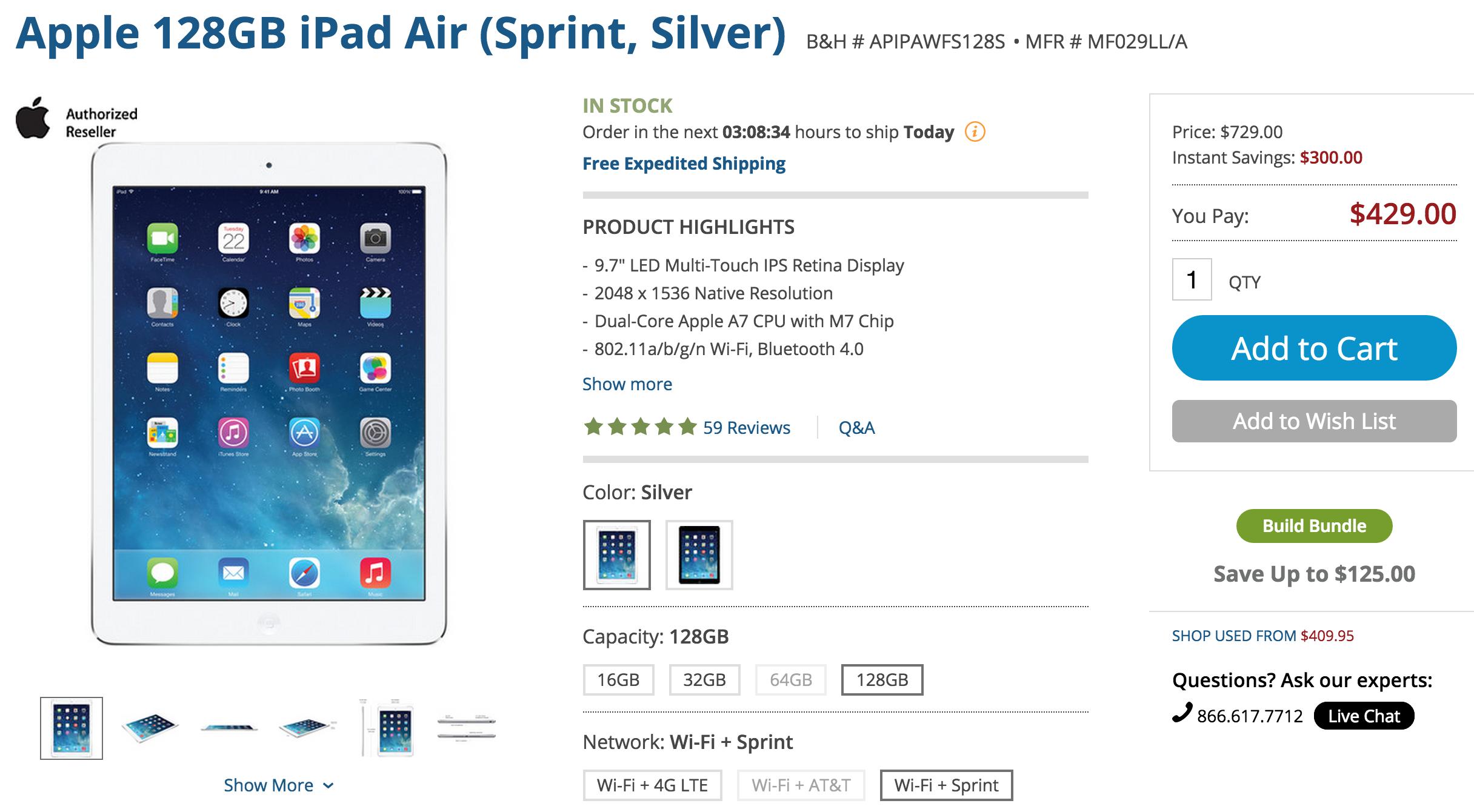 bh-ipad-air-sprint-deal