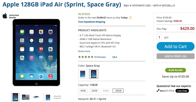 bh-sprint-ipad-air-deal