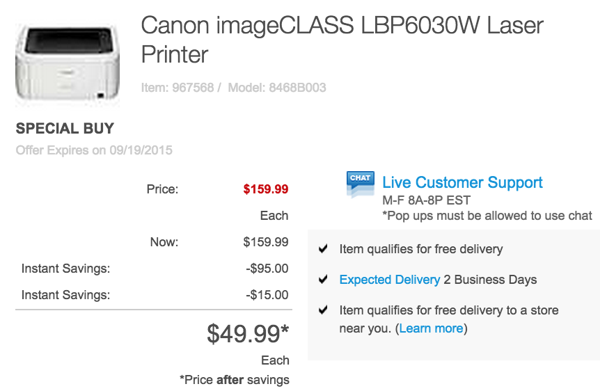 canon-laser-airprint-staples-deal