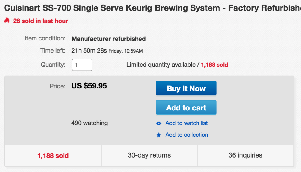 Cuisinart SS-700 Single Serve Keurig Brewing System-sale-03