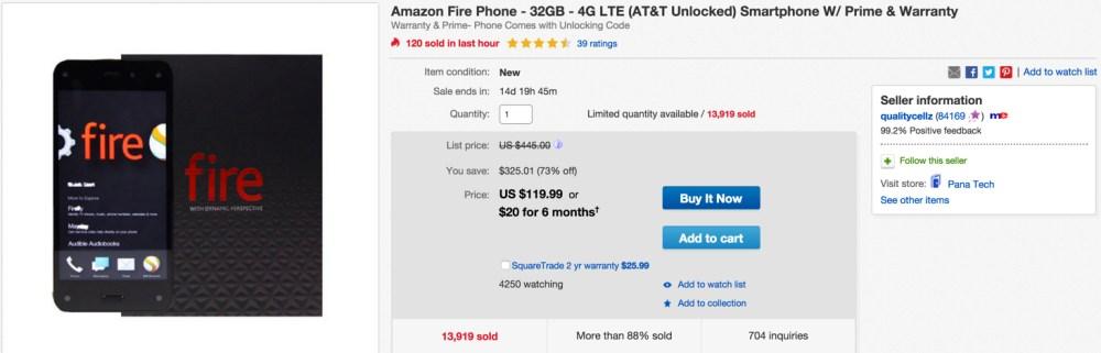ebay 32GB fire phone