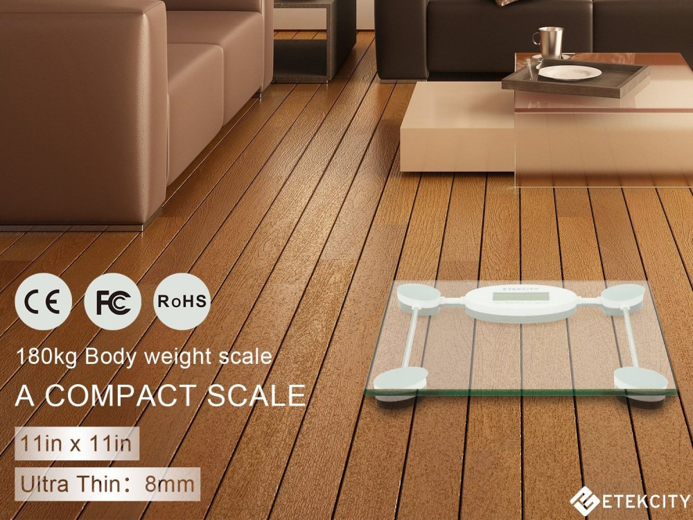 Etekcity Digital Body Weight Bathroom Scale in Tempered Glass-sale-01