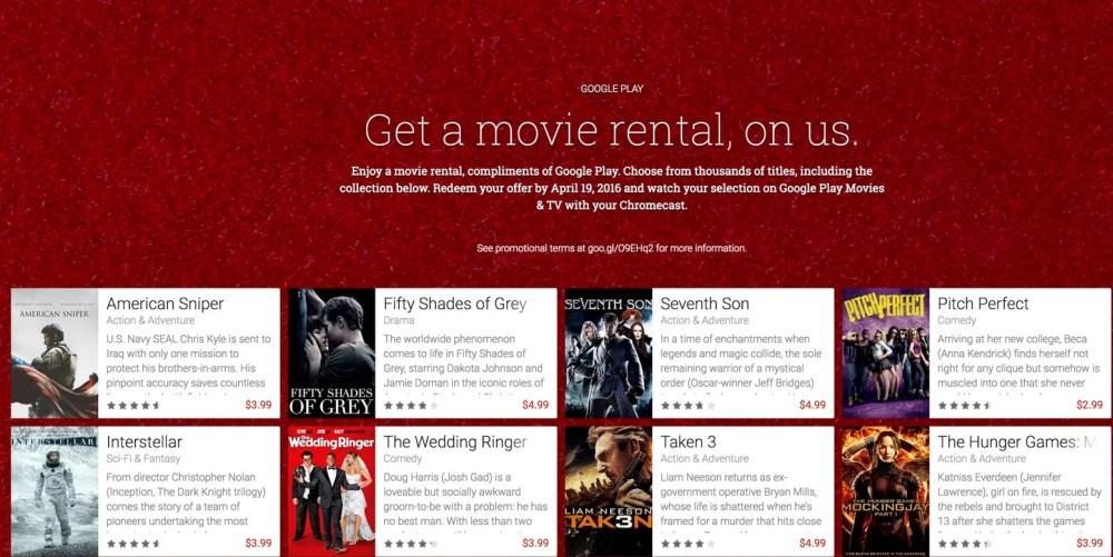 Free rental at Google Play