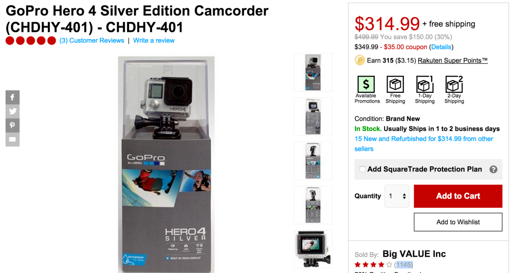 GoPro Hero 4 Silver Edition Action Cam-sale-02