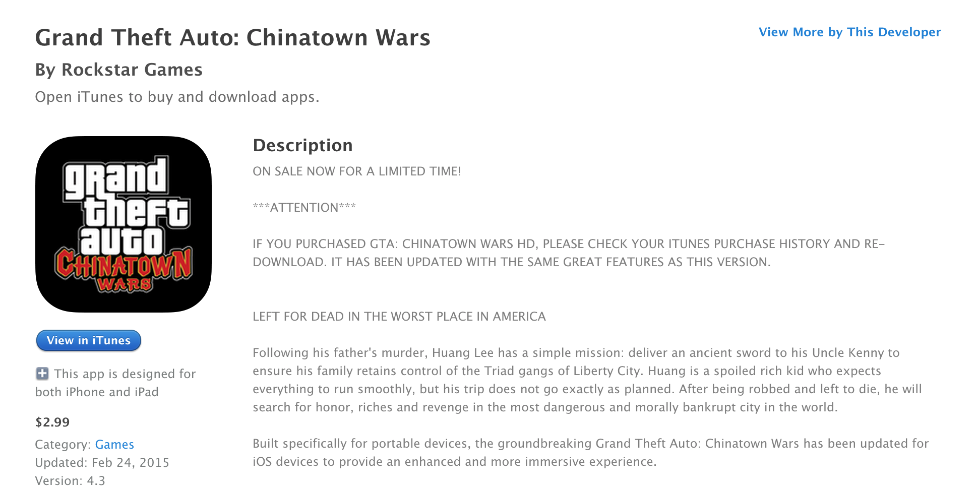 gta chinatown wars free download for ios