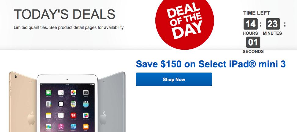 ipad-mini-3-best-buy-daily-deal