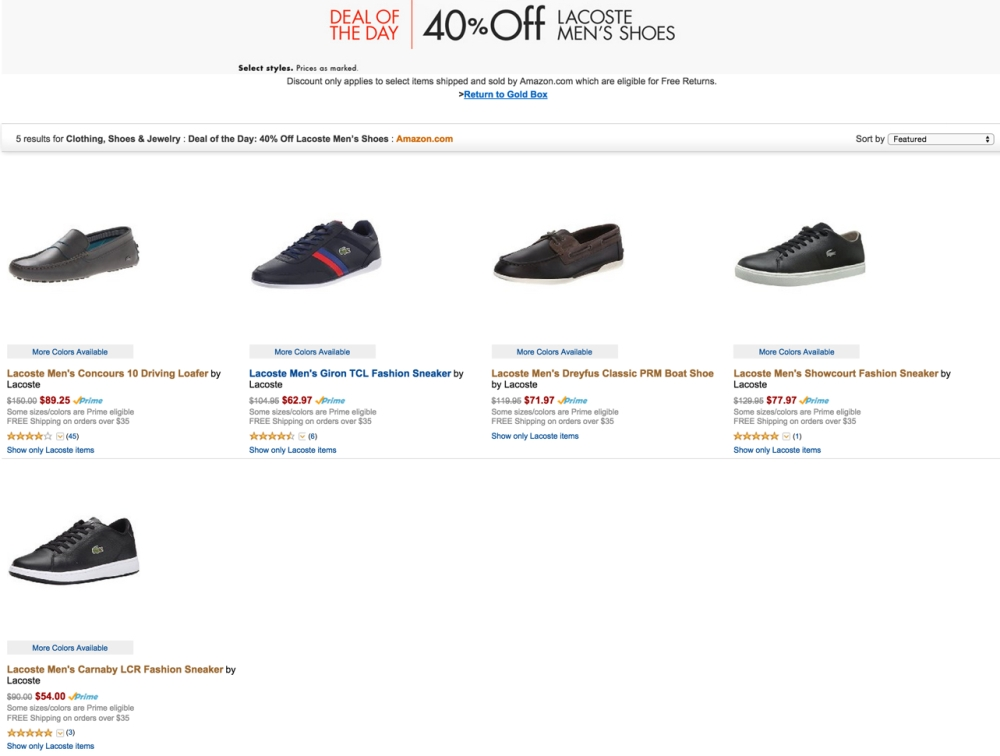 Lacoste Mens Shoes up to 40% off