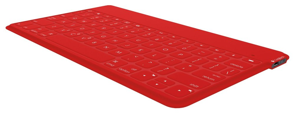 Logitech Keys-To-Go Portable Keyboard for iOS Devices in Red