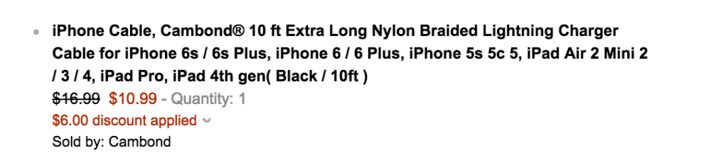 MFI Apple-Certified 10-ft Cambond Nylon Braided Lightning Cable in black-sale-02