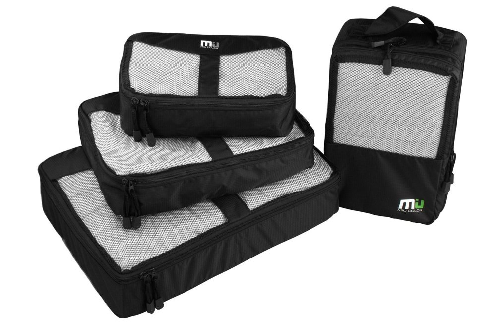 MIU COLOR Waterproof 4 Set Packing Cubes:Travel Organizer-sale-01
