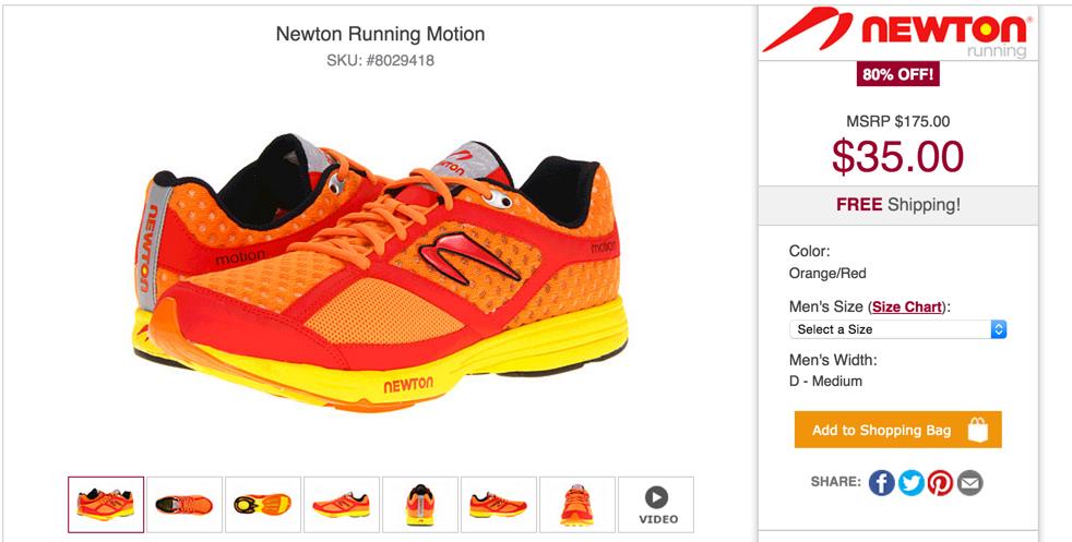 Newton Men's Running Motion Shoes