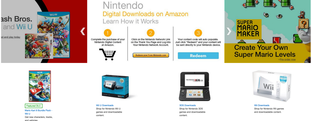 Nintendo Amazon digital store