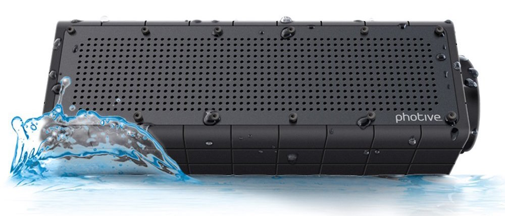 Photive HYDRA Rugged Water Resistant Wireless Bluetooth Speaker.