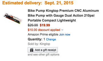Premium Aluminum Bike Pump coupon amazon