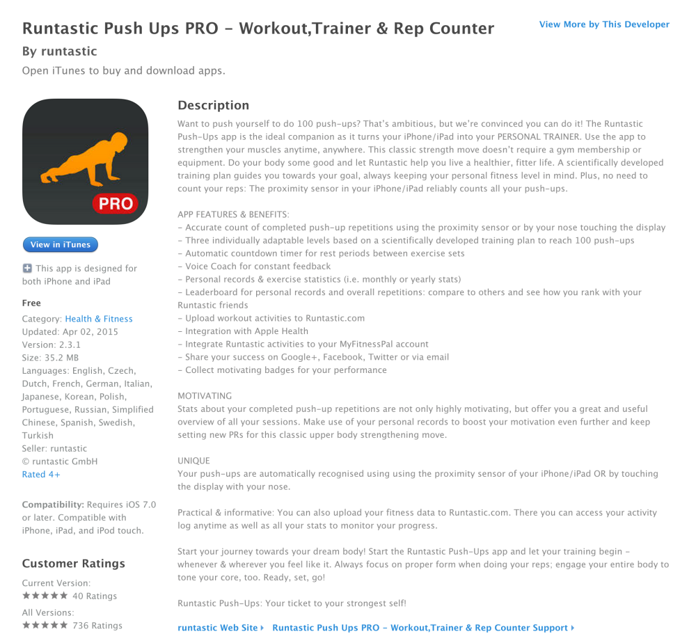 Runtastic Push Ups PRO - Workout,Trainer & Rep Counter-sale-02