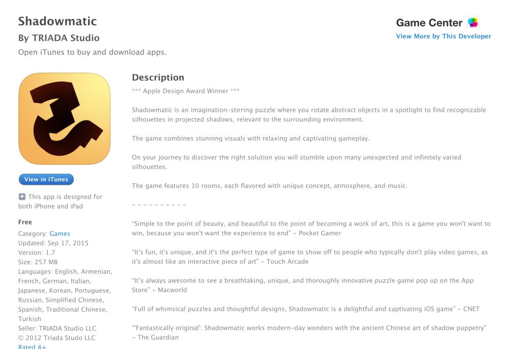 Shadowmatic-Free App of the Week-07