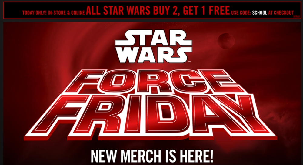 Star Wars Force Friday at Hot Topic