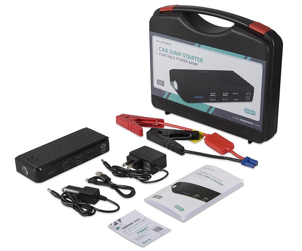 the RAVPower Portable Car Jump Starter and 12000mAh Power Bank w: Built-In LED Flashlight-sale-01