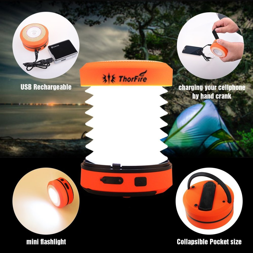 ThorFire Camping LED Lantern with Hand Crank-sale-01