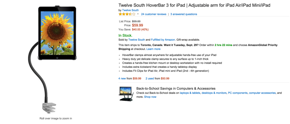 Twleve South HoverBar 3 Adjustable arm for iPad-sale-04