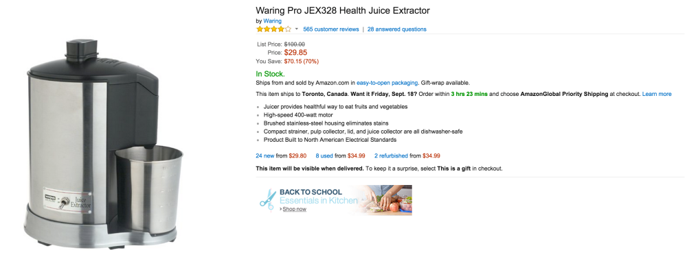Waring Pro Health Juice Extractor (JEX328)-sale-02