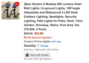 2 pack spotlights amazon coupon