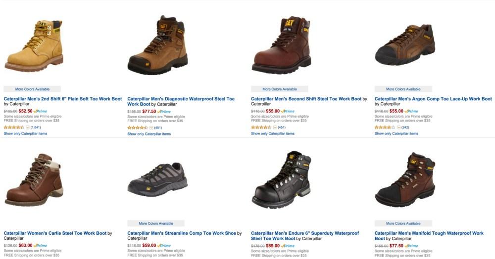50% Off Caterpillar Work Boots