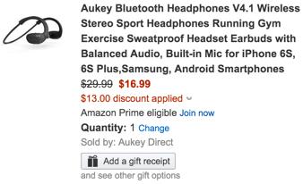 Aukey bluetooth headphones coupon
