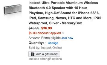 Bluetooth speaker amazon coupon code