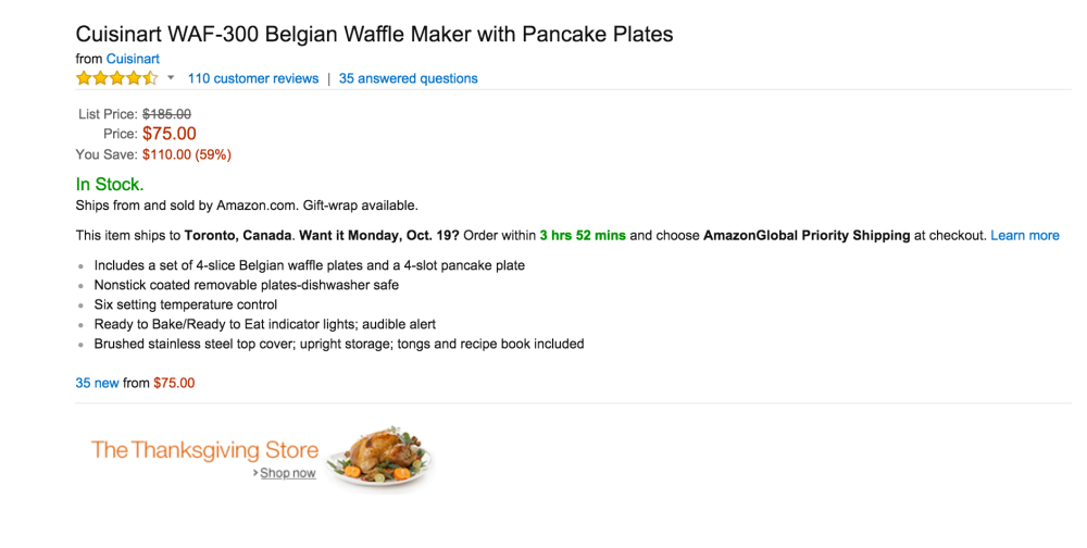 Cuisinart Belgian Waffle Maker with Pancake Plates (WAF-300)-sale-02