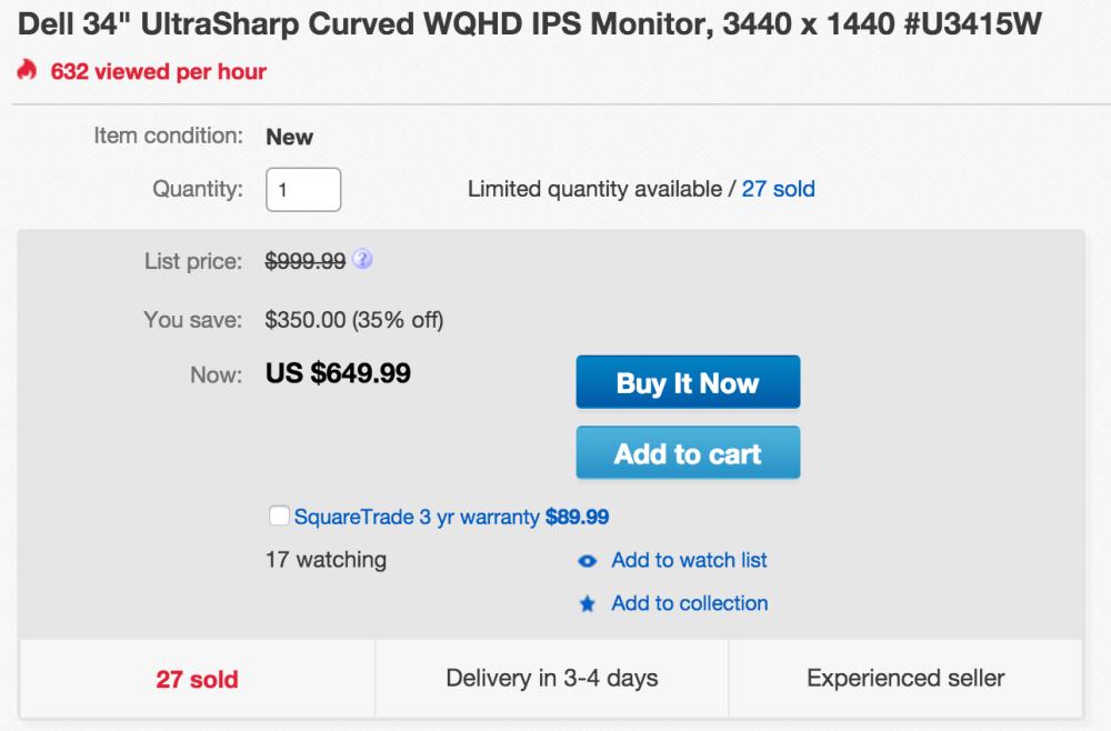 Dell UltraSharp 34-Inch Curved LED-Lit Monitor (U3415W) -sale-02