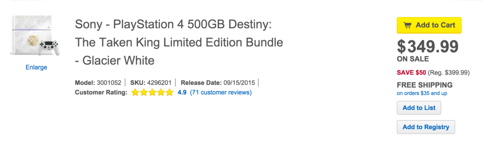 Destiny Taken King Limited Edition Bundle-PS4-sale-02