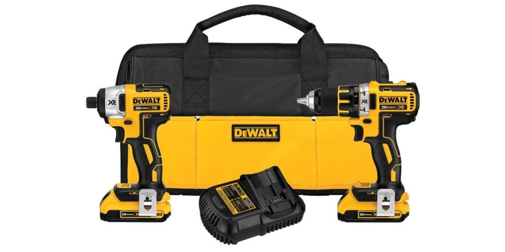 DEWALT 20V Max XR Lithium Ion Brushless Compact Drill:Driver & Impact Driver Combo Kit (DCK281D2)-sale-01