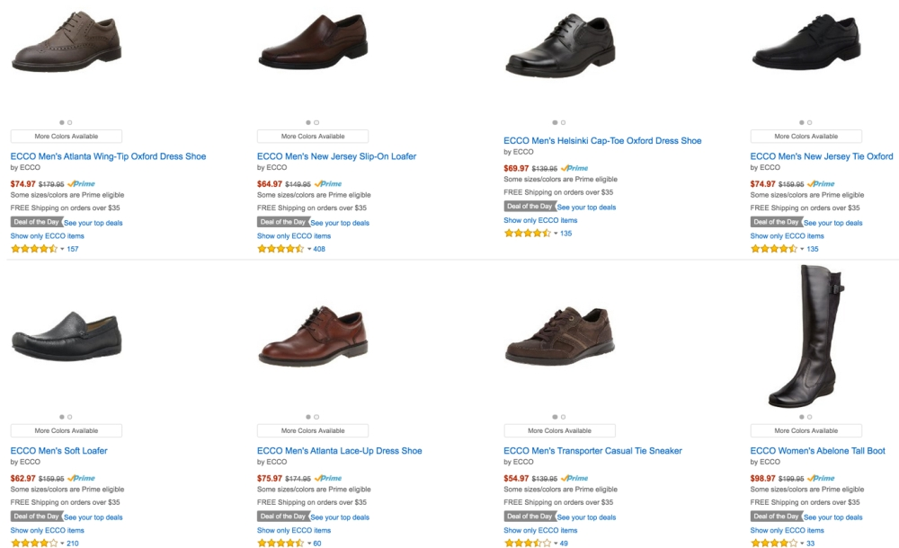 Ecco shoes for Men and Women 50% off