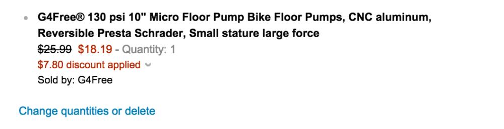 G4Free 130 psi 10%22 Micro Bike Floor Pump-sale-02